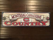"Montreal Canadiens NEW Wooden 9"" x 30"" Decor Sign . NHL Hockey Gift Fan Home NWT"
