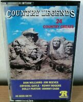 Country Legends Cassettes 24 Country Greats Country Music Collectable Cassette
