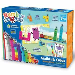MathLink Cubes cBeebies Numberblocks 1-10 Maths Activity Set  - 30 Activities
