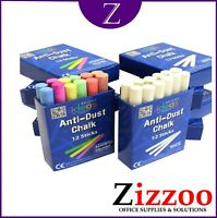 ANTI DUST CHALK IN WHITE OR COLOURED OR BOTH WITH FREE DELIVERY