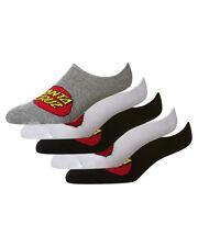 Santa Cruz Socks 5 Pack No Show Asst Classic Dot 7-11 Invisible Skateboard Sox