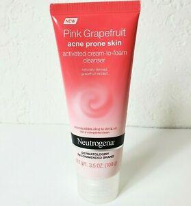 Neutrogena Pink Grapefruit Acne Prone Skin Cream To Foam Facial Cleanser 3.5 oz