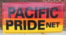 Large Advertising Pacific Pride Net Gas & Oil Polycarbonate Sign 48 X 95""