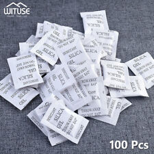 100Pcs 1g Silica Gel Desiccant Sachets Pouches Moisture Absorber Drying Bags A4