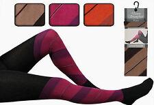 1, 2 oder 4 Damen Strumpfhosen  Streifen  Strickstrumpfhosen  Baumwolle    2D1