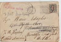 1924 lettera da Sale Alessandria x Brooklyn New York Nord America USA.
