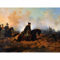 MILITARY KOSSAK BATTLE SOMOSIERRA Painting Canvas art Prints