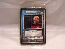 STAR TREK CCG 2 PLAYER GAME, FEDERATION SET OF 4 CARDS