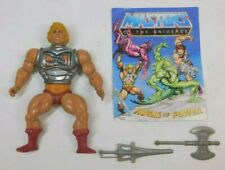 MASTERS OF THE UNIVERSE BATTLE ARMOR HE-MAN HARD HEAD VARIANT MEXICO COMPLETE