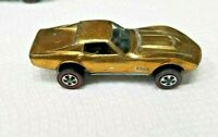 HOT WHEELS VINTAGE ALL ORIGINAL REDLINE 1968 CUSTOM CORVETTE U.S. GOLD