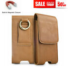 Genuine Leather Vertical Cell Phone Belt Pouch Case Holster For iPhone 12 Mini
