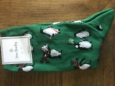 NWT Vera Bradley Holiday Penguins Socks Green Sold out online!