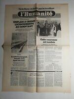 N385 La Une Du Journal L'humanité 17 janvier 1979 emploi à crédit licenciements