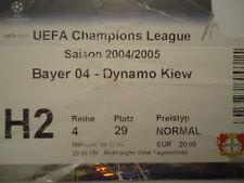 TICKET UEFA CL 2004/05 Bayer Leverkusen - Dynamo Kiew