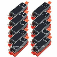 10pk Black Ink Cartridge FOR Canon PGI35 PGI-35 BK Pixma iP100 iP110 printer