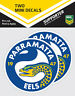 NRL Parramatta Eels Mini Decal Stickers - Pack of 2