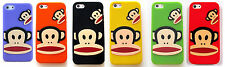 Apple iPhone 5 5S 3D Paul Frank Monkey Face Soft Silicone Gel Rubber Cover Case
