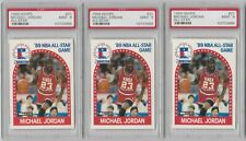 Michael Jordan 1989 Hoops All-Star PSA MINT 9 - Lot of (3)
