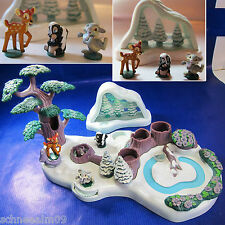 Mini Polly Pocket Disney Bambi Playset 100% complete und Schneekugel Hase.