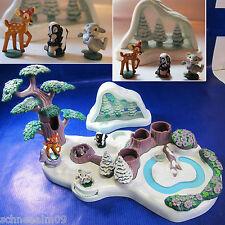 Vintage Polly Pocket Disney Bambi Playset 100% Komplet und Schneekugel Hase*