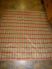 """Handmade Hand Tied Quilt 52"""" x 52"""" Brown Green Check TIed Quilt"""