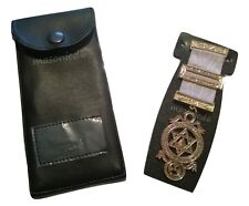 masonic regalia-LARGE ROYAL ARCH COMPANION BREAST JEWEL + JEWEL CASE/WALLET NEW)