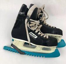 Bauer 81 Black Panther Hockey Ice Skates Men's Size 7.5 D W Skate Guards Fstshp