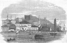 TURKEY. The Rifle Brigade landing at Gallipoli, antique print, 1854