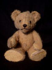 "Antique Teddy Bear Mohair Kapok  Stuffed  Jointed 13"" TLC"