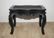 French Black Seat Stool Bench Seat Shabby Chic Bedroom Dressing Wooden Table