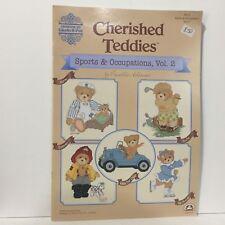 Cherished Teddies 21 Sports Occupation 2 Cross Stitch Pattern Book Gloria Pat