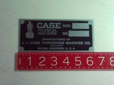 J.I. Case Aluminium Tractor Engine Name Plate tag Nameplate Ji