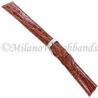 20mm Morellato Tan Genuine Crocodile Padded Stitched Men Watch Band 518XL