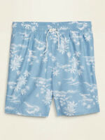 "NWT Old Navy Scenic Palm Tree Sailboat Swim Trunks Board Shorts 8"" Men S M L XL"