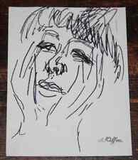 Dessin Charles Kiffer (1902-1992) Etude Juliette Gréco artiste 1960 cachet 2