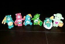 Vintage Lot of 6 2in Carebears includes 1 RARE Carebear Cousin