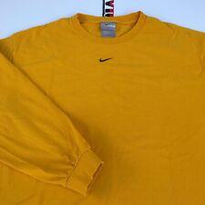Vintage Nike Center Check Shirt Long Sleeve Size L Large Silver Tag Travis Scott