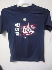 Majestic 2017 USA World Baseball Classic Navy Youth T-Shirt Size L (14/16)