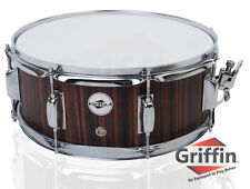 "Griffin Snare Drum – 14"" Poplar Wood Shell Black Hickory Percussion Kit Set 5.5"""