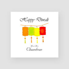 Personalised Handmade Happy Diwali Card - Divali, Hindu, Ganesh Festival Light