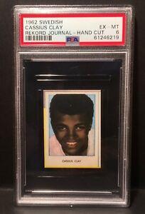 1962 Swedish Rekord Journal Hand Cut Cassius Clay (Muhammad Ali) - PSA 6 EX-MT