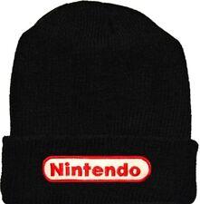 Nintendo Wool Hat Black Beanie Knit Videogame Console Super Mario Bros NES