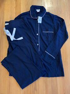 J Crew Women's Knit Pajama Set PXS PS PL Navy Ivory #AU100  $89.50  NWT H2020