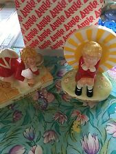 Two Annie Figurines by Applause