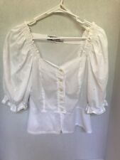 Original Alphorn Trachtenmode Von Adler Size 40 Button up White Blouse