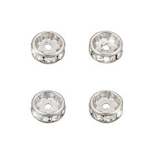 Swarovski blotter rhodium cristal plaqué f (8mm) - pack de 4 (M58/11)