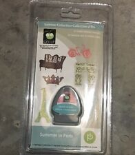 New Cricut SUMMER IN PARIS Cartridge Eiffel Tower Arc de Triomphe 3D Cuts