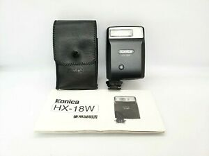 [TOP MINT w/Case] Konica HX-18W Flash for Hexar RF Camera From JAPAN #383