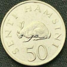 Tanzania 1990     50 Senti BU      Nickel Clad Steel Coin      #K514