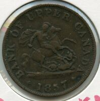 1857 Bank of Upper Canada - Half Penny Token - JN596